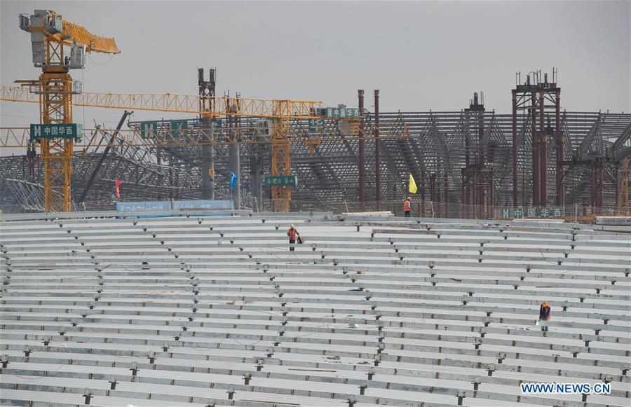 Construction of Chengdu Tianfu International Airport underway