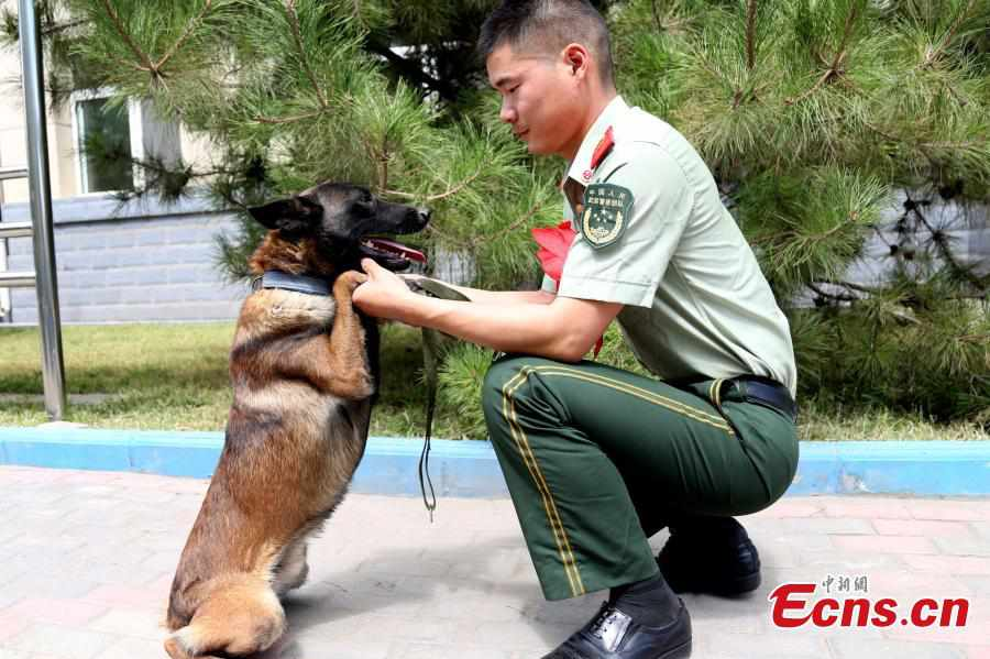 Emotional armed police retirement ceremony in Ningxia