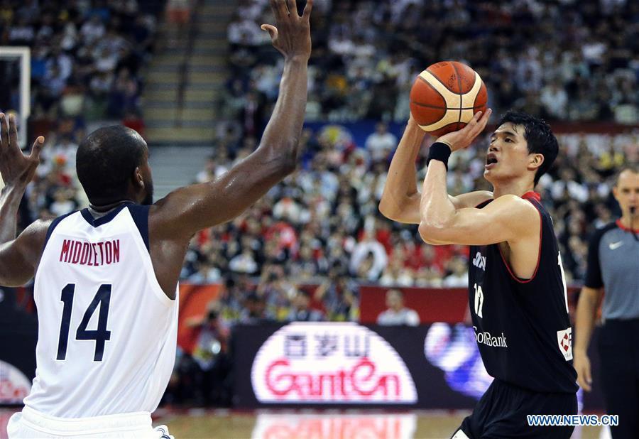 (SP)CHINA-SHANGHAI-BASKETBALL-FIBA WORLD CUP-GROUP E-JAPAN VS USA(CN)