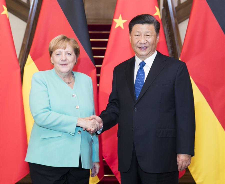 CHINA-BEIJING-XI JINPING-GERMANY-MERKEL-MEETING(CN)