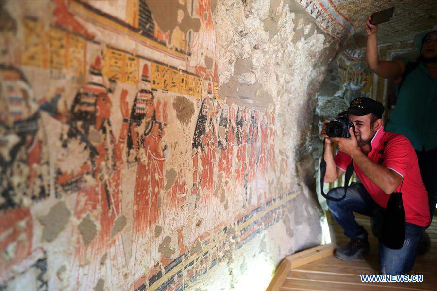 EGYPT-LUXOR-TOMBS-RESTORATION-OPENING