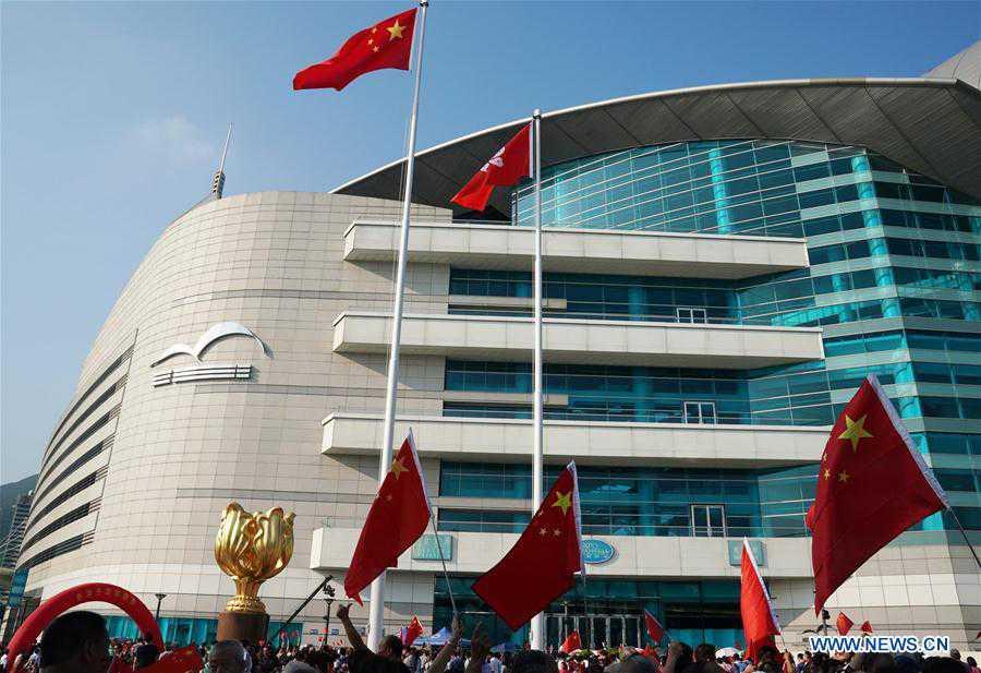 CHINA-HONG KONG-NATIONAL FLAG-RAISING CEREMONY(CN)