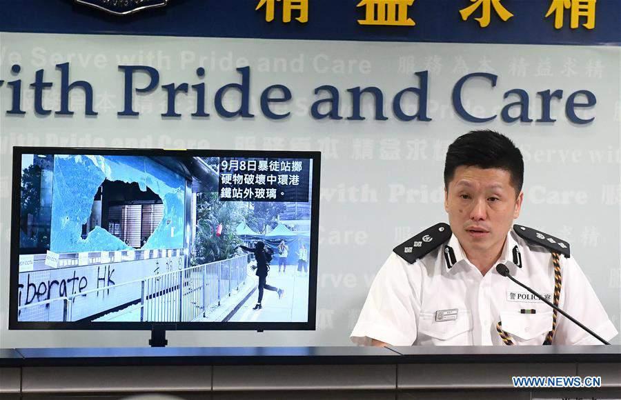 CHINA-HONG KONG-POLICE-PRESS CONFERENCE (CN)