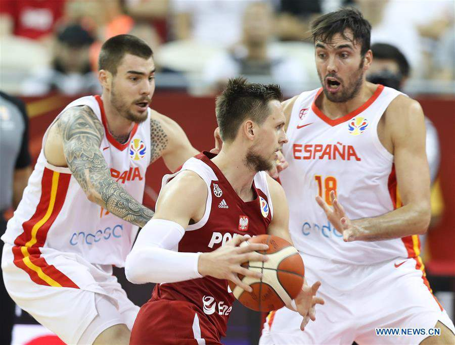 (SP)CHINA-SHANGHAI-BASKETBALL-FIBA WORLD CUP-QUARTER FINAL-SPAIN VS POLAND (CN)