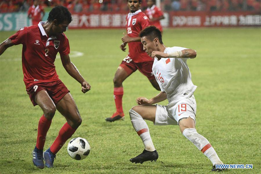 (SP)MALDIVES-MALE-SOCCER-2022 QATAR FIFA WORLD CUP-ASIAN QUALIFIERS-CHINA VS MALDIVES