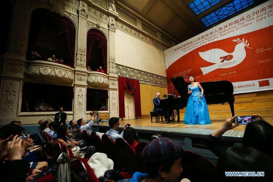 Overseas Chinese in Belgium celebrate 70th anniversary of PRC founding