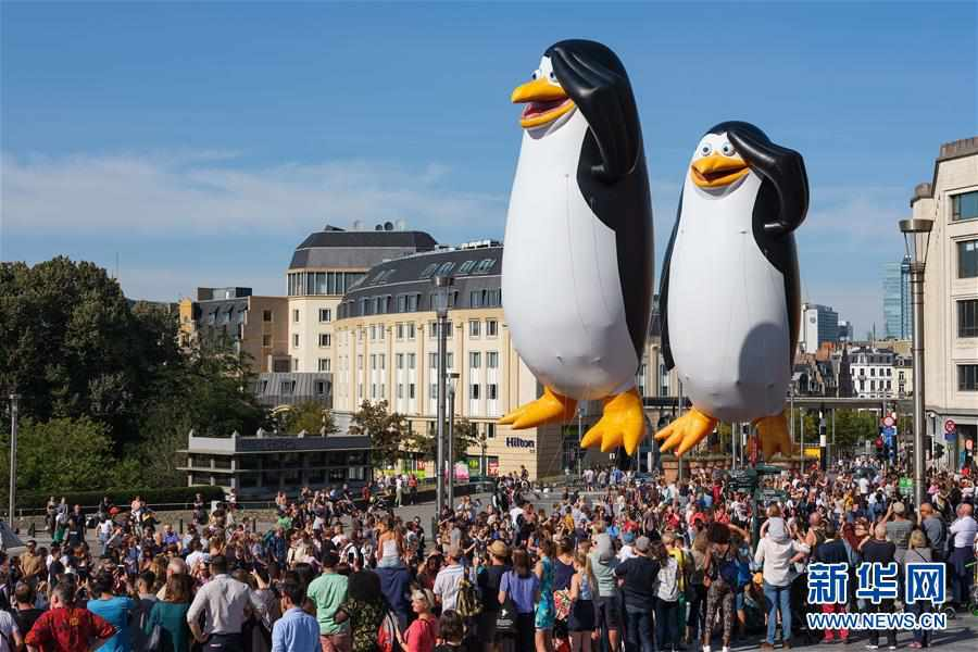 (国际)(2)布鲁塞尔举行卡通气球大巡游