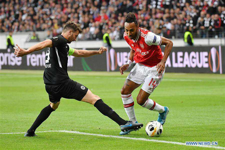 (SP)GERMANY-FRANKFURT-SOCCER-UEFA-EUROPA LEAGUE-FRANKFURT VS ARSENAL