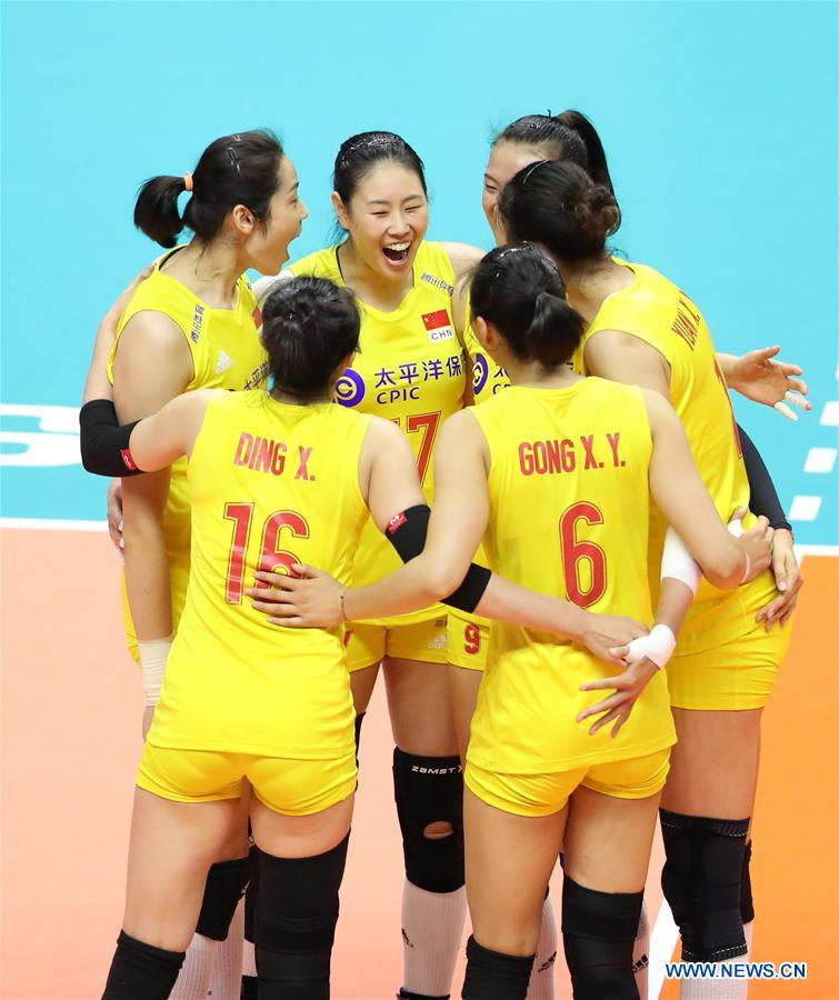 (SP)JAPAN-SAPPORO-VOLLEYBALL-WOMEN'S WORLD CUP-CHN VS USA
