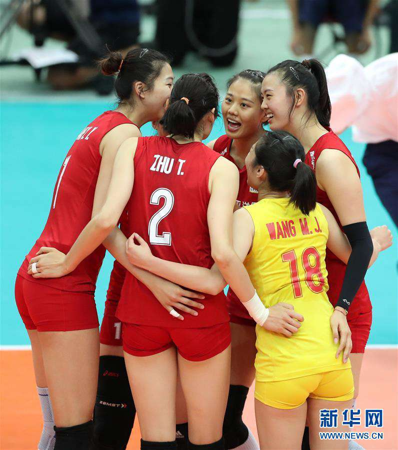 (体育)(5)排球――女排世界杯:中国队十一连胜 成功卫冕