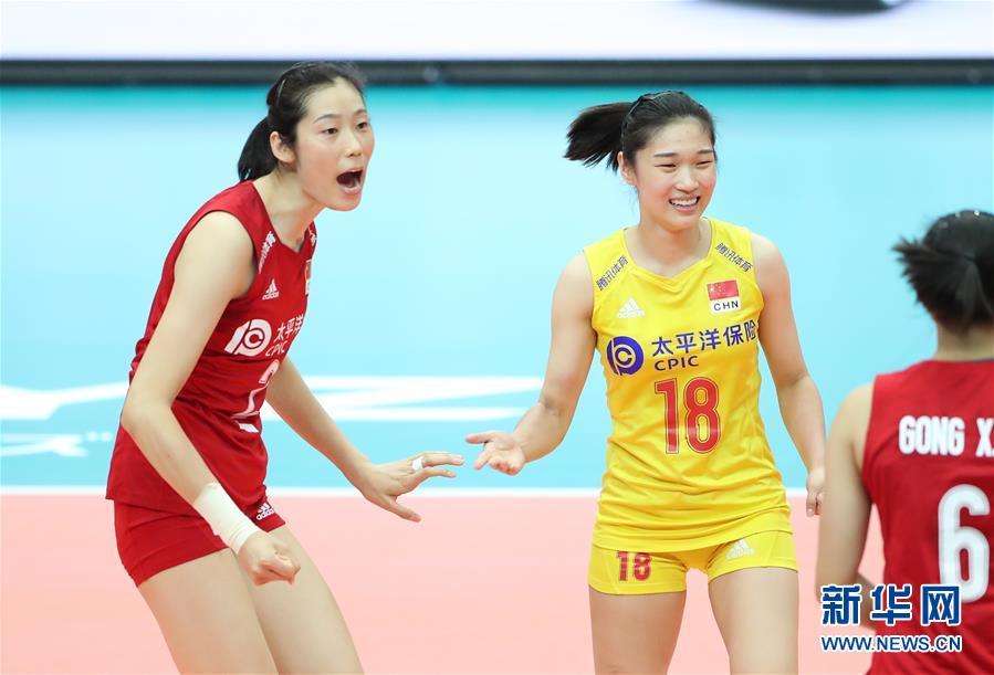 (体育)(3)排球――女排世界杯:中国队十一连胜 成功卫冕