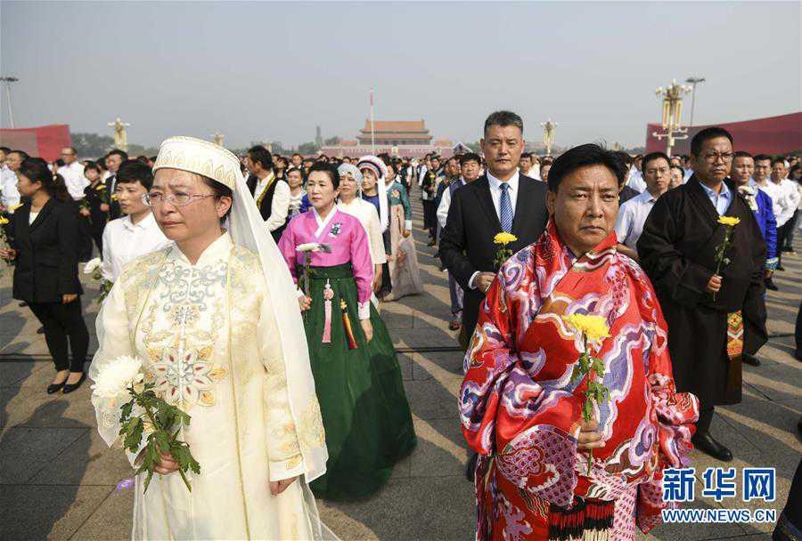(时政)(6)烈士纪念日向人民英雄敬献花篮仪式在京隆重举行
