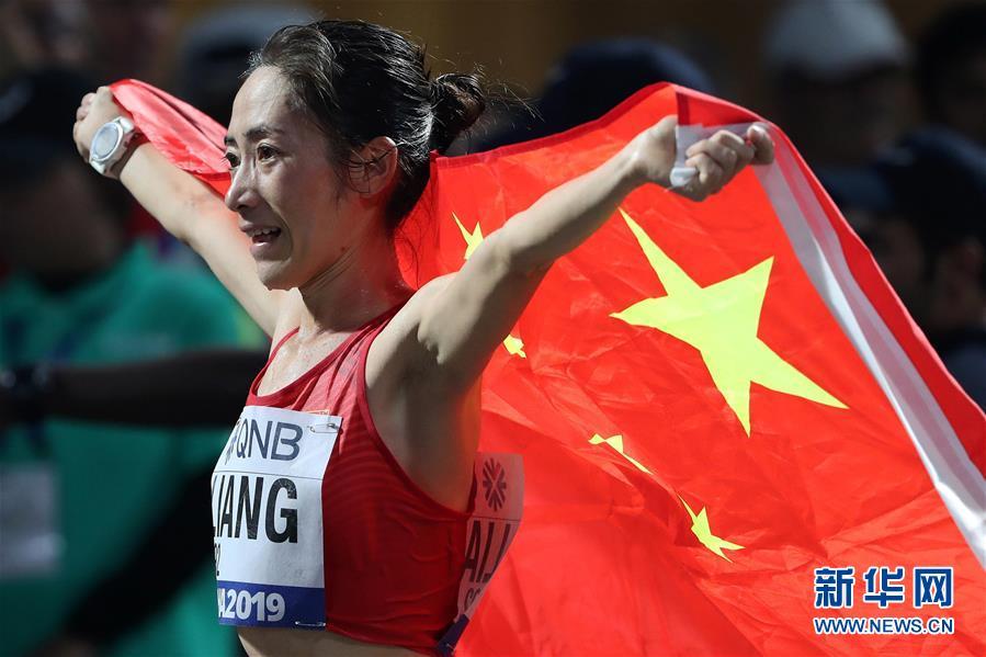 (田径世锦赛)(12)田径——女子50公里竞走:梁瑞夺冠