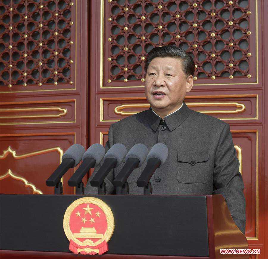 (PRC70Years)CHINA-BEIJING-NATIONAL DAY-XI JINPING-SPEECH (CN)