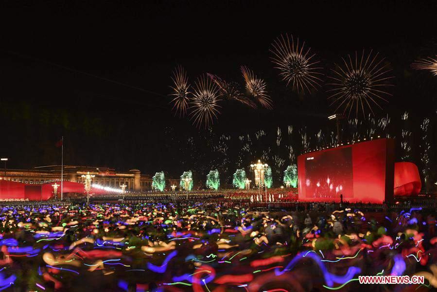 (PRC70Years)CHINA-BEIJING-NATIONAL DAY-CELEBRATIONS-EVENING GALA (CN)