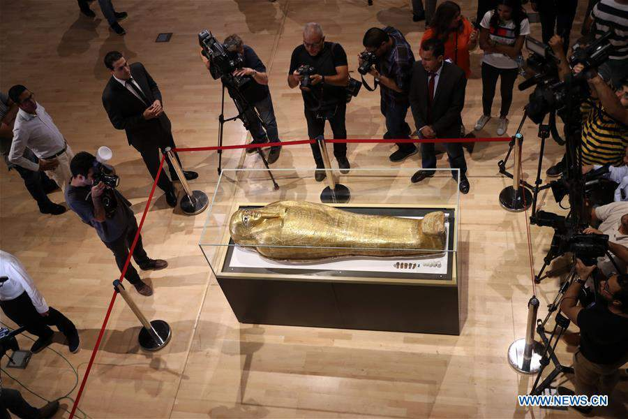 EGYPT-CAIRO-LOOTED COFFIN-RETURN