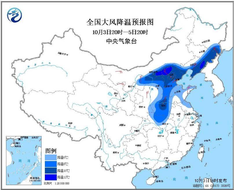 较强冷空气影响长江以北地区多地气温将下降6~10℃