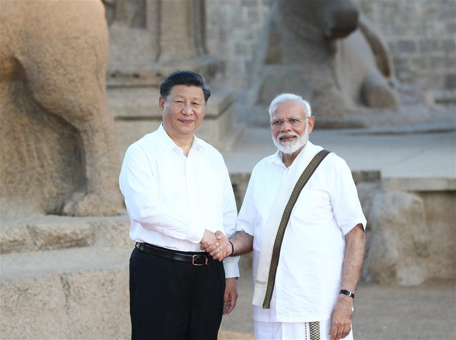 INDIA-CHENNAI-CHINA-XI JINPING-MODI-MEETING