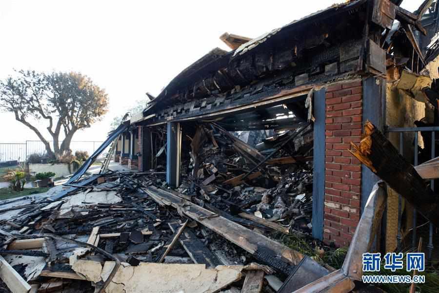 (国际)(1)美国加州:被烧毁的房屋