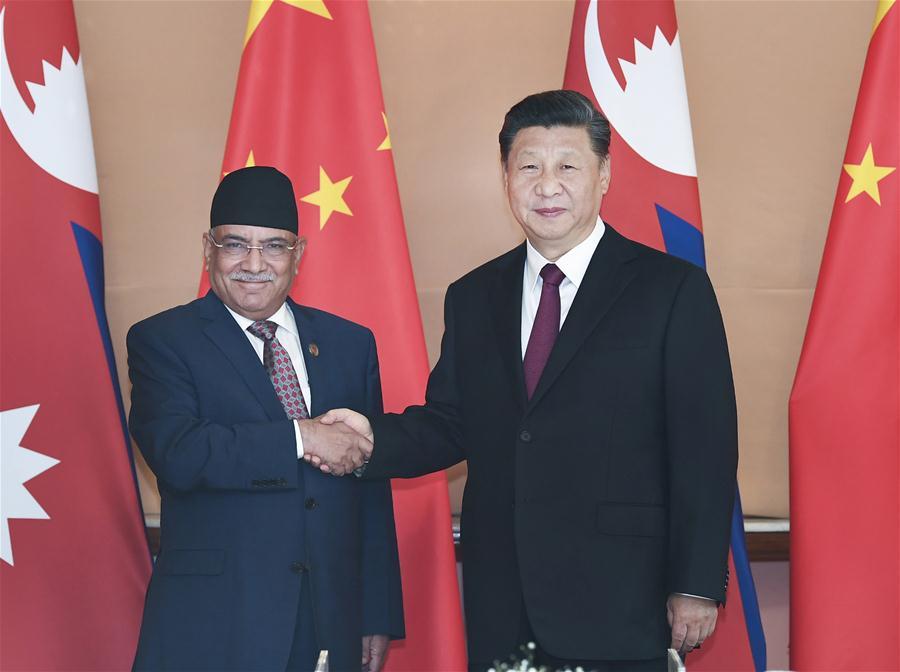 NEPAL-KATHMANDU-CHINA-XI JINPING-NCP-MEETING