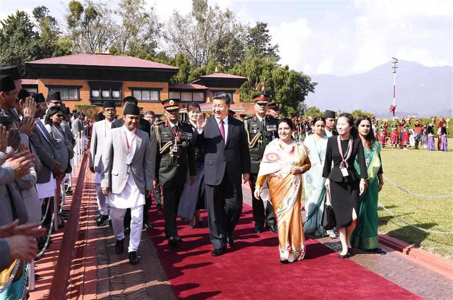 NEPAL-KATHMANDU-CHINA-XI JINPING-FAREWELL CEREMONY