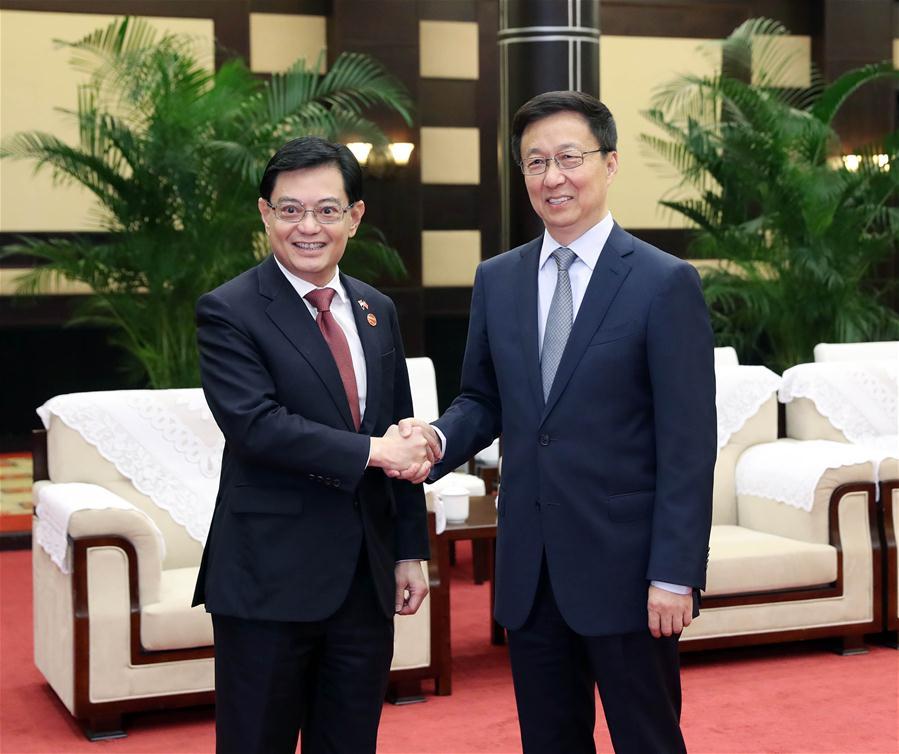 CHINA-CHONGQING-HAN ZHENG-SINGAPORE-BILATERAL COOPERATION (CN)