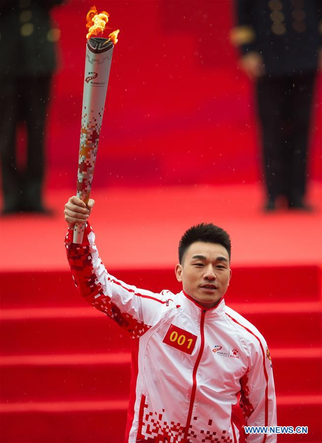 (SP)CHINA-WUHAN-7TH MILITARY WORLD GAMES-TORCH RELAY