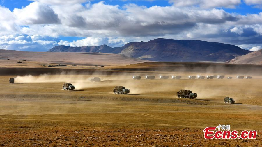 PLA stages air defense drill in Tibet