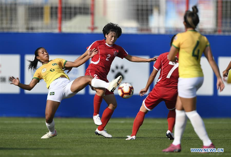 In pics: women's football 1st round match at 7th CISM Military World Games