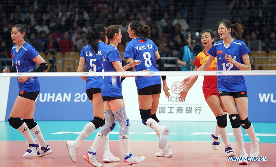 China rout Canada 3-0 into women's volleyball semis at Military World Games