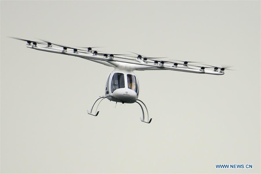 SINGAPORE-VOLOCOPTER-AIR TAXI-TEST PILOT