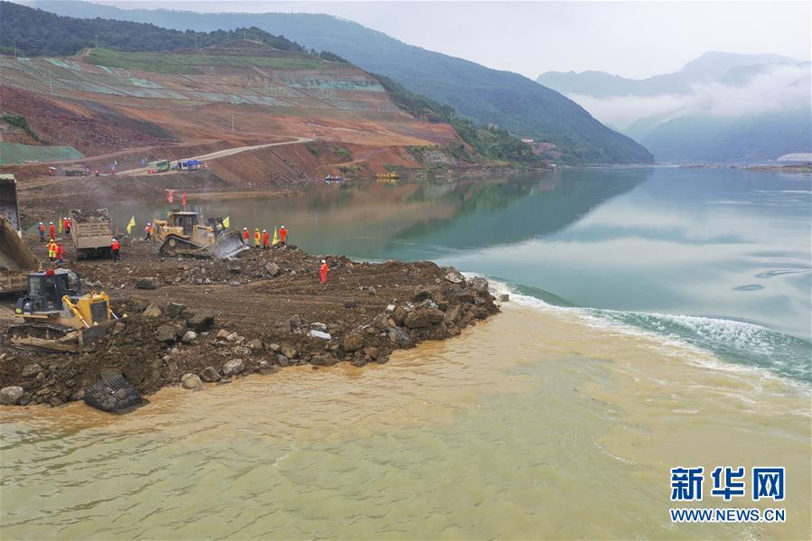 (社會)(3)廣西大藤峽水利樞紐工程大江截流工作進入關鍵階段