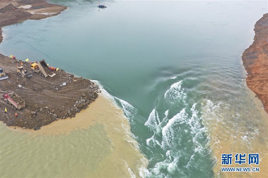 (社會)(2)廣西大藤峽水利樞紐工程大江截流工作進入關鍵階段