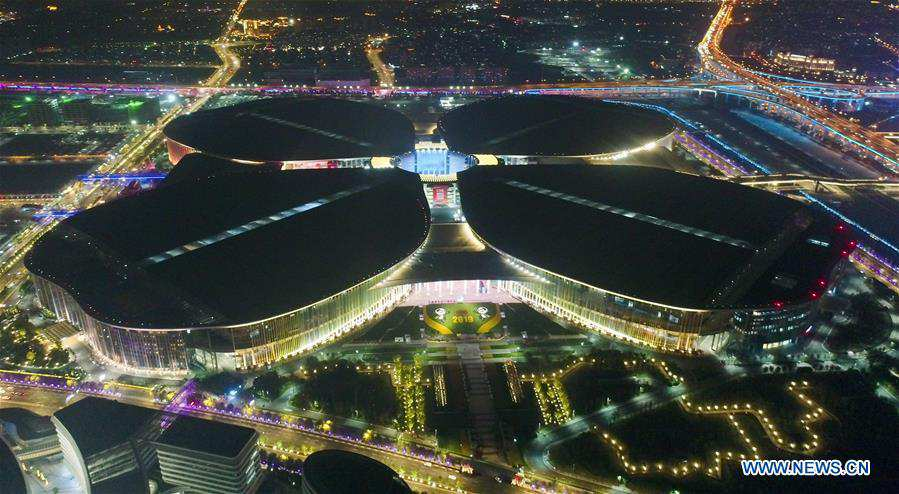 CHINA-SHANGHAI-CIIE-NIGHT VIEW (CN)
