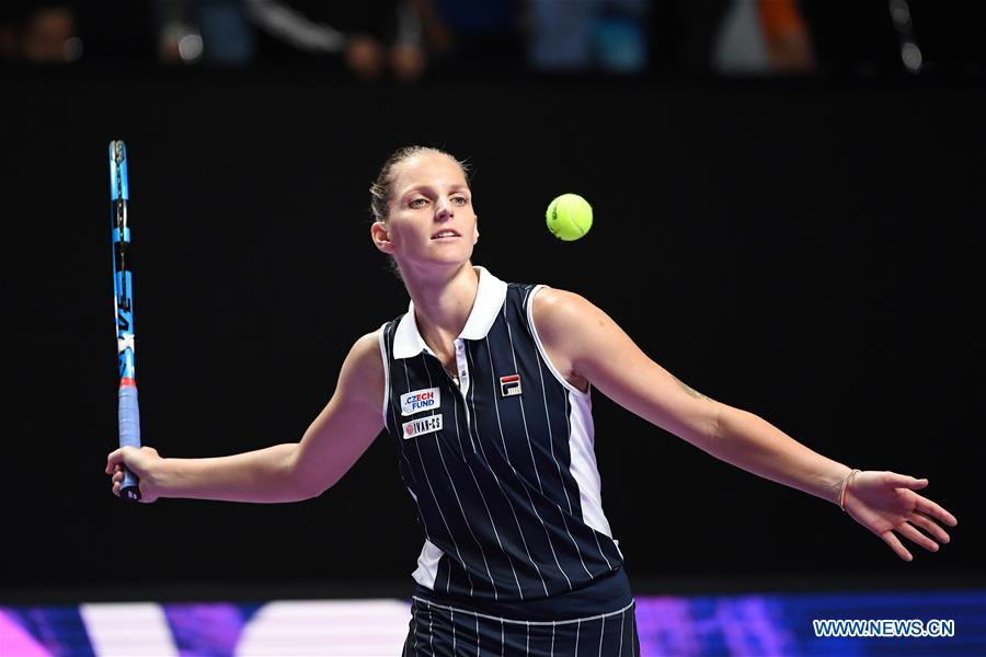 (SP)CHINA-SHENZHEN-TENNIS-WTA TOUR FINALS-SINGLES(CN)