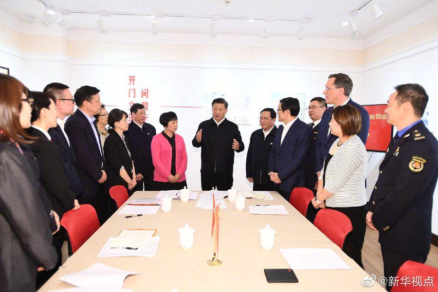 习近平总书记在上海考察调研
