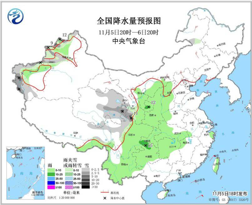 新疆北部有雨雪及大风降温天气 华北黄淮部分地区有雾霾