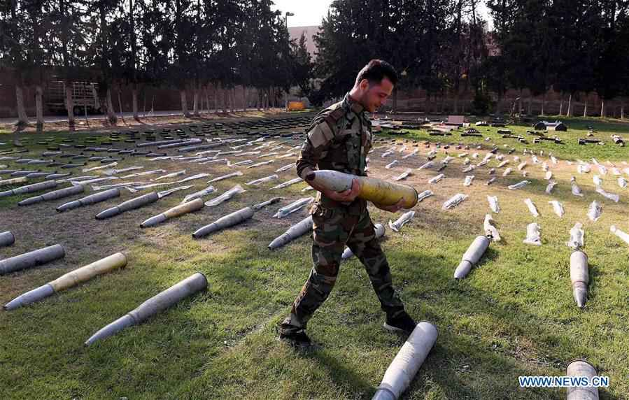 SYRIA-DAMASCUS-CONFISCATED WEAPONS