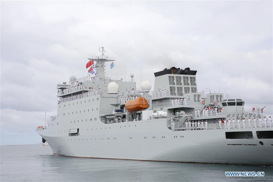 FIJI-SUVA-CHINA-NAVAL SHIP-DEPARTURE
