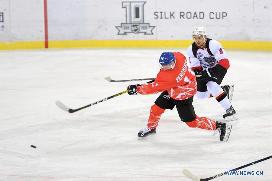 22nd round match at Silk Road Supreme Hockey League: Tsen Tou vs. HC Tambov