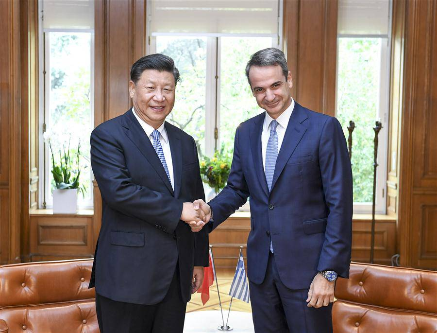 GREECE-ATHENS-XI JINPING-GREEK PM-TALKS