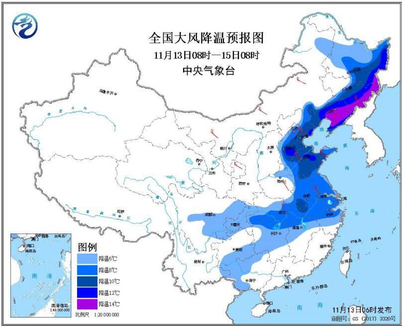 强冷空气持续 东北地区中东部有小到中雪