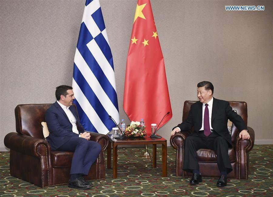 GREECE-ATHENS-XI JINPING-FORMER GREEK PM-MEETING