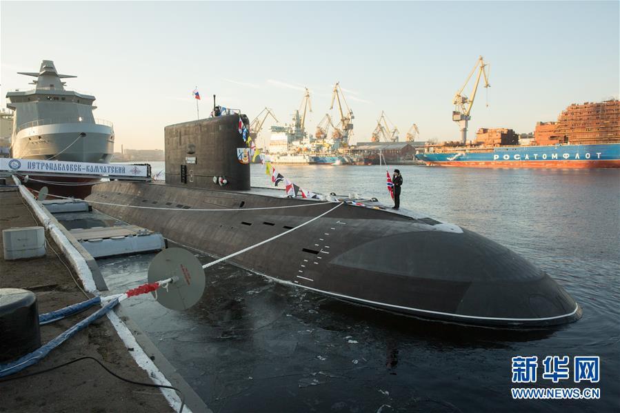 俄为太平洋舰队建造的首艘636.3型潜艇交付海军