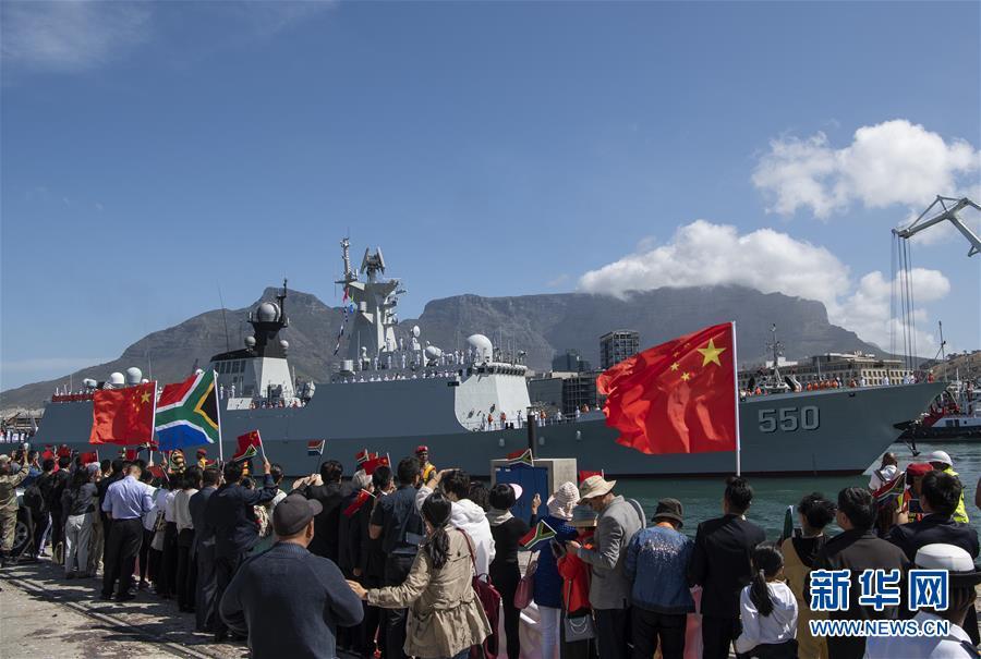 (國際)(1)中俄南非三國在開普敦舉行海上聯合演習