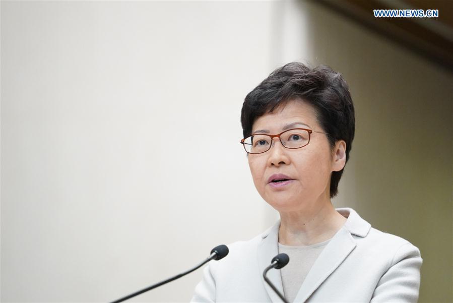CHINA-HONG KONG-CARRIE LAM-PRESS CONFERENCE (CN)