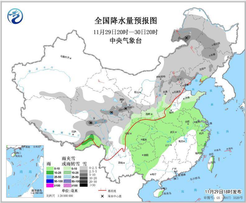 北方有降雪和大风降温华北局地有轻度霾