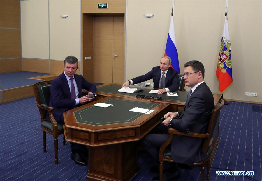Putin watches launching ceremony of China-Russia east-route natural gas pipeline via teleconference