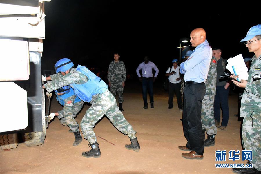 (國際·圖文互動)中國第15批赴蘇丹達爾富爾維和工兵分隊獲好評