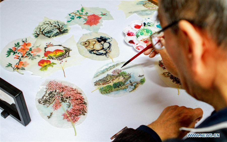 Leaf vein picture, intangible cultural heritage in Handan